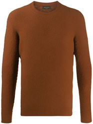 Roberto Collina Relaxed Fit Jumper Brown