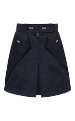 Marco De Vincenzo Cotton Gabardine Mini Skirt Black