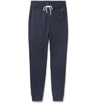 Hugo Boss Slim Fit Tapered Nep Cotton Jersey Sweatpants Navy