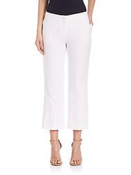 Lafayette 148 New York Courtly Cropped Pants White