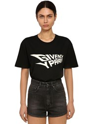 Givenchy Enlight Print Cotton Jersey T Shirt Black