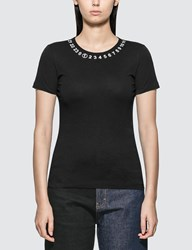 Maison Martin Margiela Numerical Logo Basic T Shirt Black