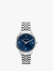 Larsson And Jennings 'S Jubilee Bracelet Strap Watch Silver Blue Jb38 Jlsv Sn