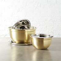 6 Piece Gold Mixing Bowl Set