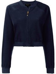 Juicy Couture Velvet Cropped Jacket Blue