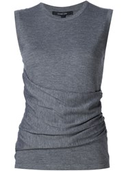 Derek Lam Knitted Round Neck Top Grey