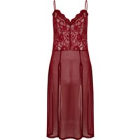 River Island Womens Dark Red Lace Slip Cami Top