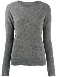 Zadig And Voltaire Cici Patch Sweater Grey