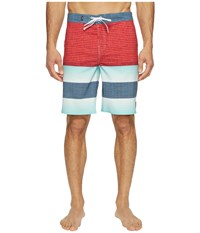 Vans Era Stretch Boardshorts 20 Racing Red Vertex Stripe Men's Swimwear Multi