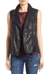 Blank Nyc Women's Blanknyc 'Larry' Faux Leather Moto Vest