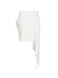 Prabal Gurung Draped Contrast Panel Skirt