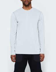 Reigning Champ Ls Crewneck Tee Powerdry Jersey In Grey