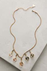 Anthropologie Ombre Droplet Necklace Neutral Motif