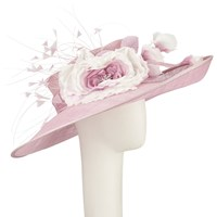 John Lewis Sammi Side Up Quills And Flower Occasion Hat Rose