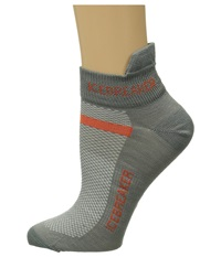 Icebreaker Multisport Ultra Light Micro 1 Pair Pack Fossil Heat Men's No Show Socks Shoes Gray