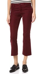 J Brand Selena Boot Cut Pants Ox Blood