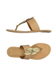 Aerin Footwear Thong Sandals Women Ocher