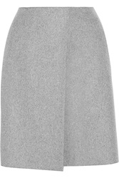 Acne Studios Wrap Effect Wool Blend Felt Mini Skirt