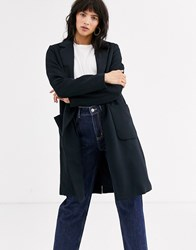 Only Breasted Coat Navy