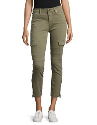 True Religion Cropped Cargo Pants Green