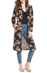 Scotch And Soda Floral Print Drape Duster Jacket