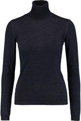 Valentino Ribbed Cashmere And Silk Blend Turtleneck Sweater Black