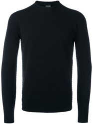 Giorgio Armani Crew Neck Jumper Black