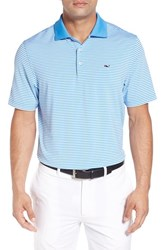 Vineyard Vines Men's 'Porter' Stripe Jersey Polo Ocean Breeze