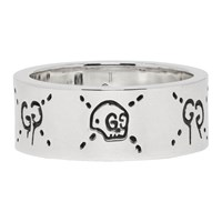Silver 'Guccighost' Ring