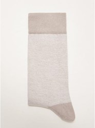 Selected Homme Grey And White Twist Socks