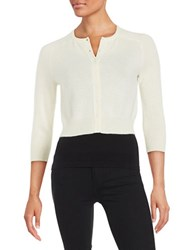 Lord And Taylor Cashmere Cardigan Ivory