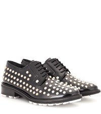 Kenzo Embellished Patent Leather Derby Shoes Black