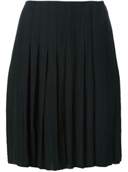 Raquel Allegra Pleated Front Skirt Black