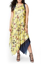 Rachel Roy Plus Size Women's Scarf Print Maxi Dress