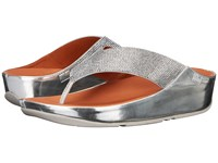 Fitflop Crystall Toe Post Silver Women's Sandals