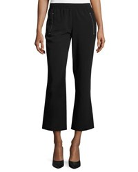 Calvin Klein Whipstitched Cady Flare Leg Pants Black
