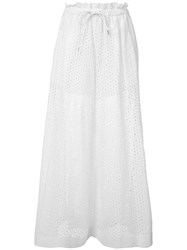 Sacai Wide Leg Trousers White