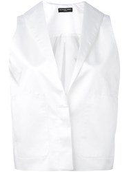 Alistair James Conjouring Waistcoat Women Silk Polyester 10 White