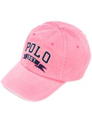 Polo Ralph Lauren Logo Cap Unisex Cotton One Size Pink Purple