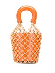 Staud Moreau Bucket Bag Orange