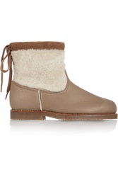 Penelope Chilvers Leather And Shearling Ankle Boots