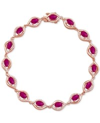 Macy's Sapphire 4 3 8 Ct. T.W. And Diamond 1 2 Ct. T.W. Link Bracelet In 14K White Gold Also Available In Emerald And Ruby