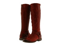 Frye Phillip Harness Tall Burnt Red Soft Vintage Leather Women's First Walker Shoes