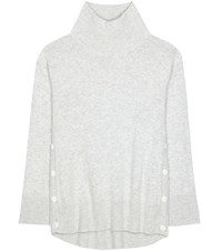Rag And Bone Phyllis Wool Cashmere Turtleneck Sweater Grey