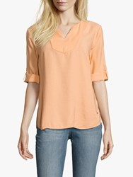Betty And Co. V Neck Blouse Apricot Wash