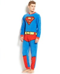 Briefly Stated Superman Union Suit Blue