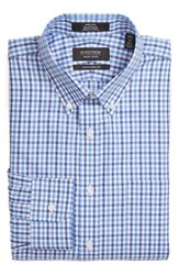 Nordstrom Men's Big And Tall Men's Shop Traditional Fit Non Iron Check Dress Shirt Blue Wedgewood