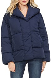Vince Camuto Matte Quilted Puffer Jacket Classic Navy
