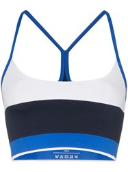 Lndr Striped Sports Bra Blue