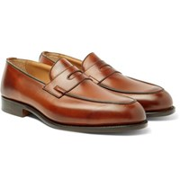 Tricker's Blair Burnished Leather Penny Loafers Brown